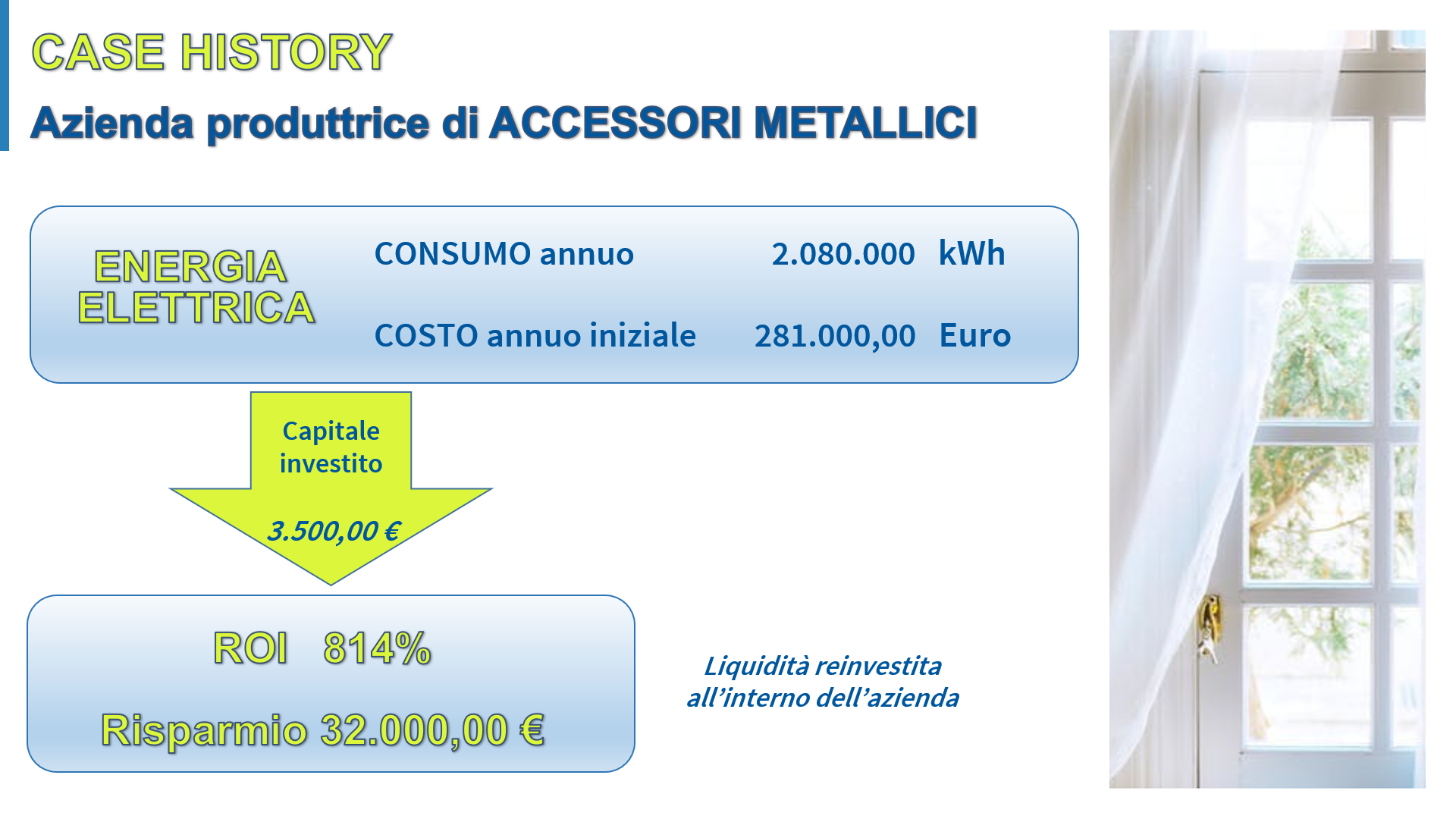 CASE HISTORY 8 – Azienda produttrice di accessori metallici