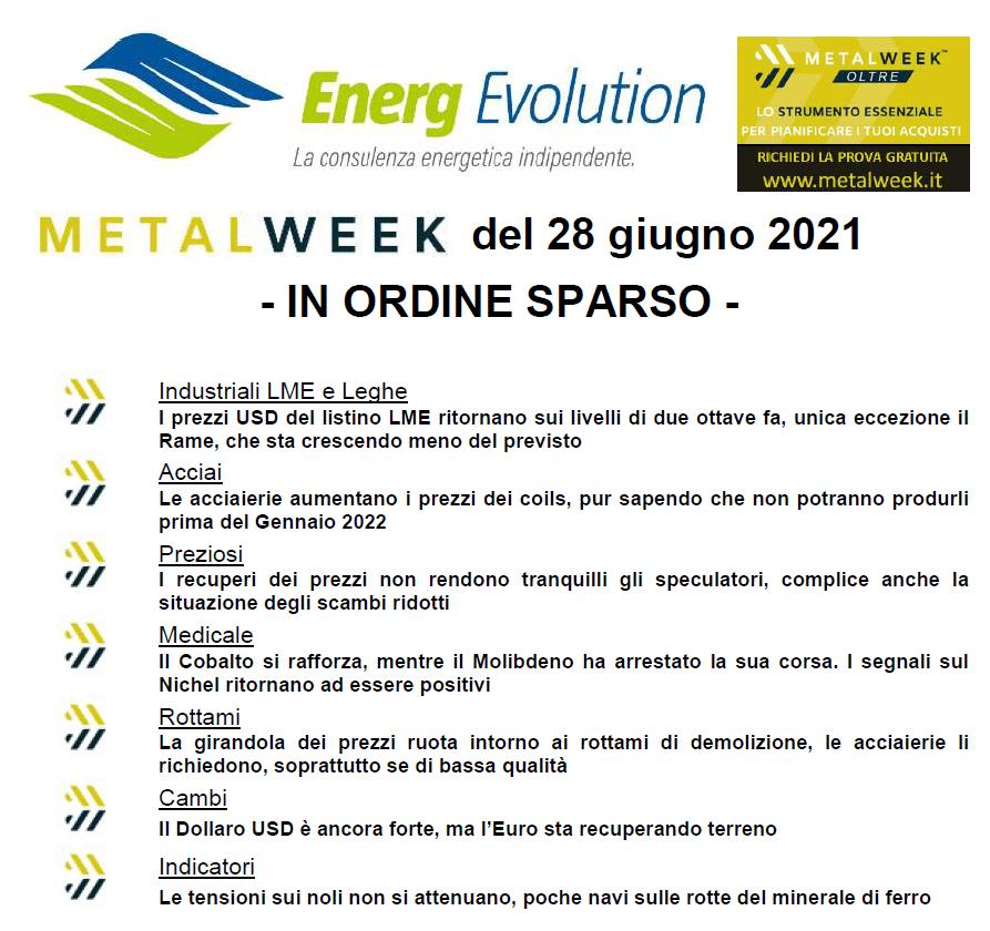 MetalWeek™ del 28/06/2021