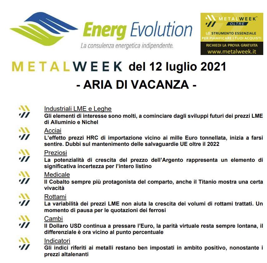 MetalWeek™ del 12/07/2021