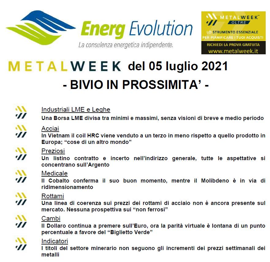 MetalWeek™ del 05/07/2021