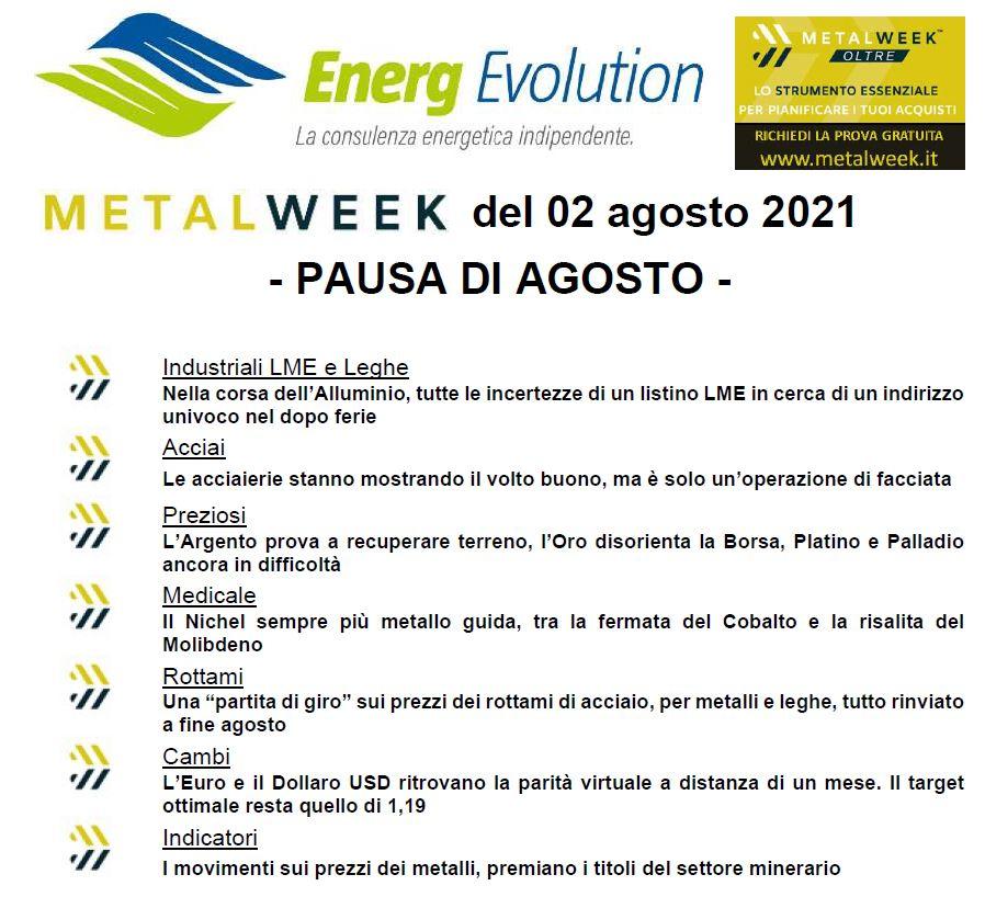 MetalWeek del 02/08/2021